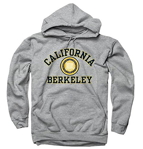 Seal Hoody Sweatshirt - Men's UC Berkeley 3 Color Seal Berkeley California Hoodie Sweatshirt S Grey