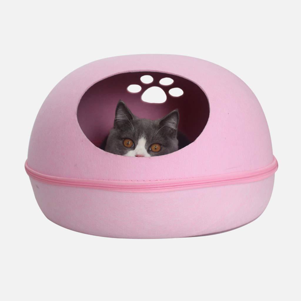 L PLL Four Seasons Universal Cat Nest Winter Warm Eggshell Shape Pet Supplies (Size   L)