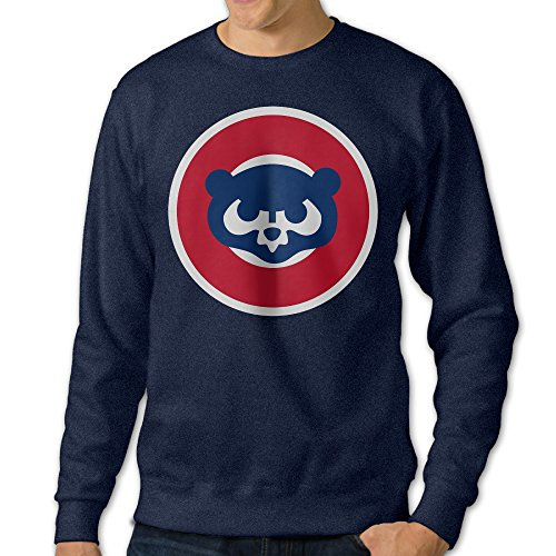 [NUBIA Men's Cub Bear Fashion Hood Navy L] (Wicked Musical Costumes Sale)