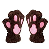 Katomi Fall and winter half finger gloves bear claw cute cartoon cat claw gloves warm thick