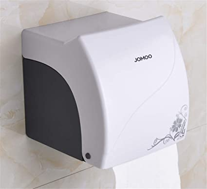 Joeesun Caja de pañuelos de baño para guardar el corazón papel higiénico rollo de papel higiénico