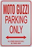 MOTO GUZZI PARKING ONLY - Miniature Parking Signs ideal for the Motorcycle enthusiast