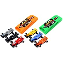 Top Team Racing 8 Piece Toy Vehicle Racing Play Set, Push Back Cars Into Chamber, Press Button to Launch by Toy Vehicle Playsets