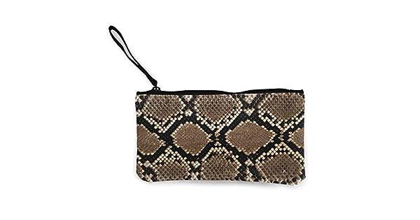 Amazon.com: Snake Scales Skin Gray Monedero de viaje de ...