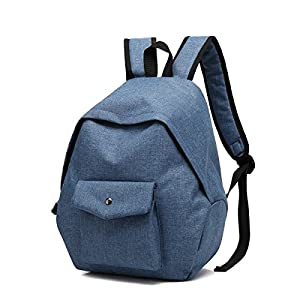 Mn&Sue Canvas School Bag Backpack for Women Campus TravelDaypackSimple Rucksack
