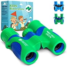 EvoCrest Binoculars for Kids w/ Shock Proof Rubber Body – 8x21 High Resolution Lenses w/ Clear Focus Perfect for Bird Watching, Outdoor Play, Educational Learning – Toys for Boys and Girls