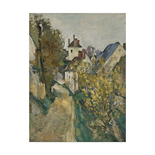 Trademark Fine Art the House of Dr Gachet in Auverssuroise by Paul Cezanne, 14x19-Inch, (Doctor Gachets House)