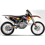 Kungfu Graphics 2013 2014 2015 KTM SX SXF XC XCF 125 150 250 350 450 / 2016 KTM 250SX 250XC 300XC Complete Graphic Decal Kit, Black