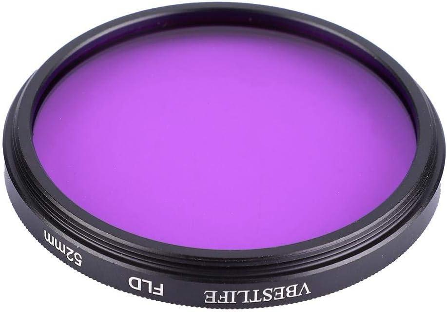 Serounder Mini DSLR//SLR Camera FLD Lens Filter,Professional Durable Eliminating Green Reflection LED Fluoroscopy Lens Filter for Canon Nikon Sony 52mm