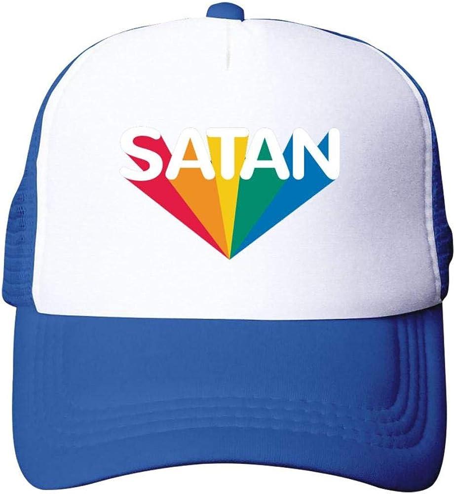 Casual Summer Baseball Cap Adjustable Adult Net Cap Satan Rainbow:WUROIMK Sun Protection