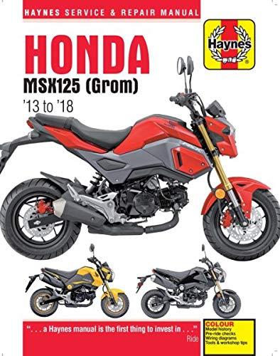 amazon com: 2013-2018 honda grom msx 125 haynes service & repair manual:  automotive