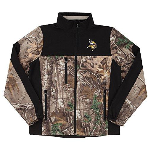 NFL Minnesota Vikings Hunter Colorblocked Softshell Jacket, Real Tree Camouflage, 2X