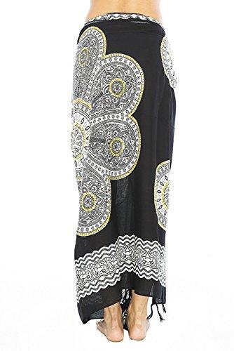 Sarong Padma Gold Sequins Black