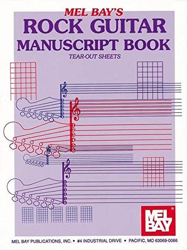 Mel Bay Rock Guitar Manuscript Book