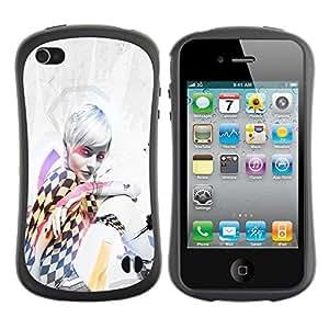 LASTONE PHONE CASE / Suave Silicona Caso Carcasa de Caucho Funda para Apple Iphone 4 / 4S / Pin Up Race Girl