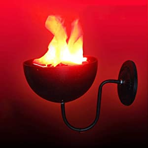 Towyow 2019 New Halloween Electronic Brazier Lamp Simulation Led Flame Lamp Bar Haunted House Fake Flame Basin Lamp Lighting Simulation Hanging Lamp Fireplace Vertical Decorative Lamp Night Light