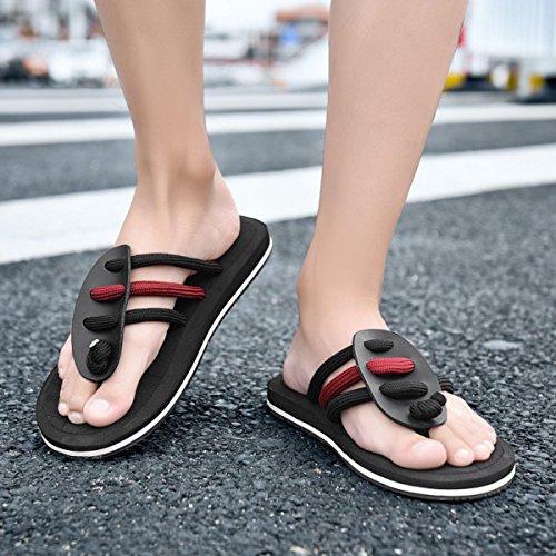 Weight Comfortable women for Phantom Black Beach Flip Sandal Light Classical Sea Flop Men's TxnwqZEgfP