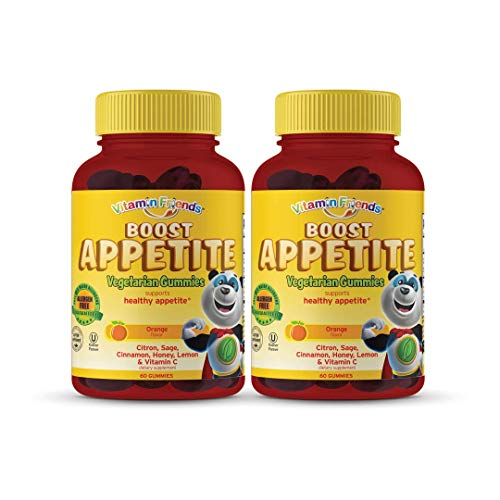 Vitamin Friends Kids Boost Appetite Gummies - Vegetarian, Kosher, Allergen Free Appetite Stimulant - Supports Healthy Appetite Naturally and Effectively - 2 Pack