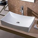 Luxier CS-001 Bathroom Porcelain Ceramic Vessel Vanity Sink Art Basin