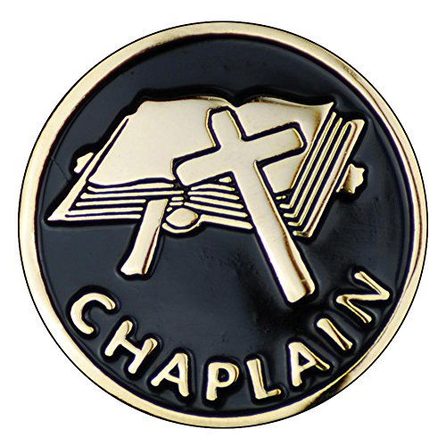 """Terra Sancta Guild Chaplain Cross 1"""" Lapel Pin B-01"""