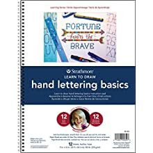 """Strathmore Paper 25-652 200 Learning Series Hand Lettering Basics Pad, 9 x 12"""", Natural White"""