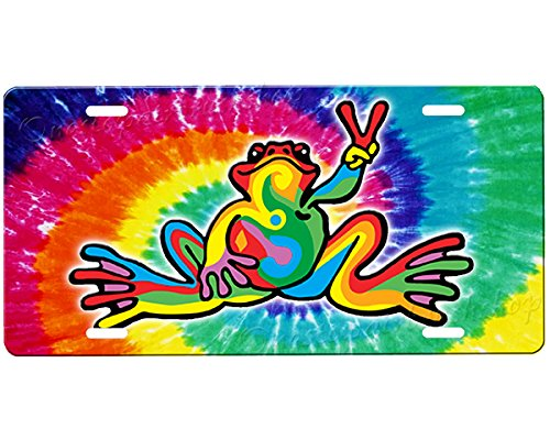 Airbrushed Tag Car (Peace Frog License Plate)