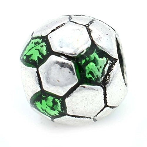 Pro Jewelry Soccer Ball Charm Bead Compatible with European Snake Chain Bracelets - Number 13 Pandora Charm
