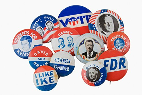Vintage Presidential Election Buttons Pins Photo Art Print Poster 18x12 inch Presidential Button