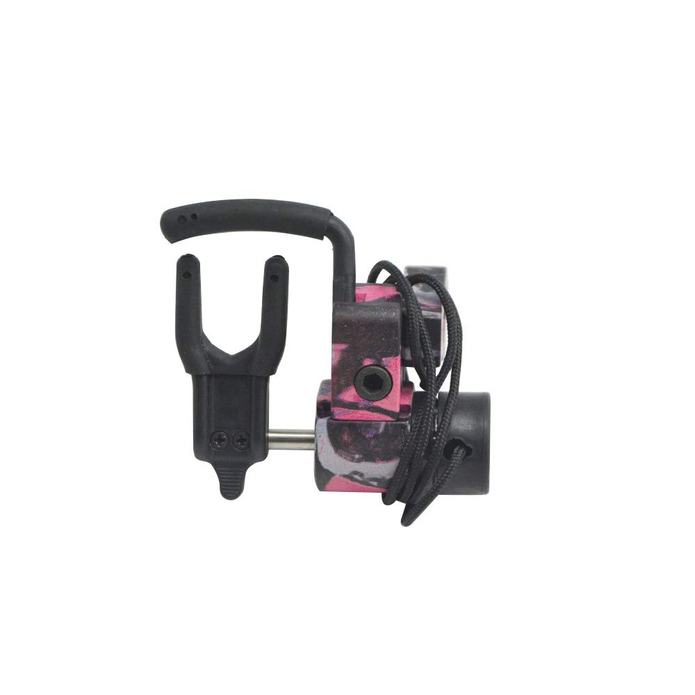 Archery Drop Away Arrow Rest Aluminum alloy Arrow Rest Rapid Adjustable Arrow Rest Right Hand With Locking Structure Suit for Compound Bow Better Flight Arrow Accessory (pink camo, Right hand) by AMEYXGS