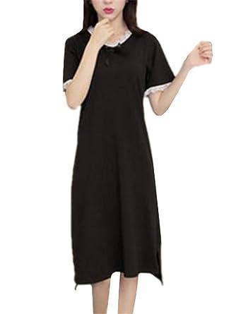 watch 13c7b e6dd1 Tayaho Nachtkleid Damen Mit Spitze Sleepwear Elegantes ...