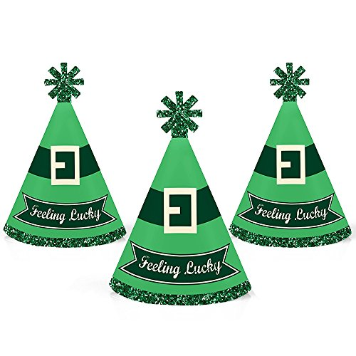 St. Patrick's Day - Mini Cone Saint Patty's Day Party Hats - Small Little Party Hats - Set of 10