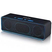 Altoparlante bluetooth, zoeetree S4Subwoofer Speaker portatile, Bluetooth 4.2Speaker, bassi potenti, costruito 10W doppio driver, chiamate in vivavoce, Radio FM, AUX IN, carta di TF