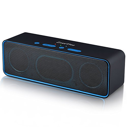 Wireless Bluetooth Speaker, Pandora S4 Portable Stereo Subwoofer with HD Sound and Powerful Bass, Built-in 10W Dual Driver, Bluetooth 4.2+EDR, TF Card Slot, Outdoor Speakers for iPhone, iPad, Samsung