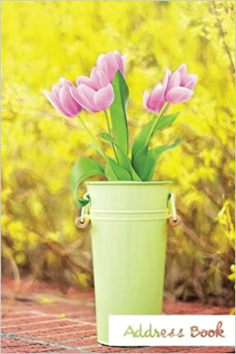 Address Book.: (Flower Edition Vol. E64) Pink Tulip Design Glossy And Soft Cover, Large Print, Font, 6