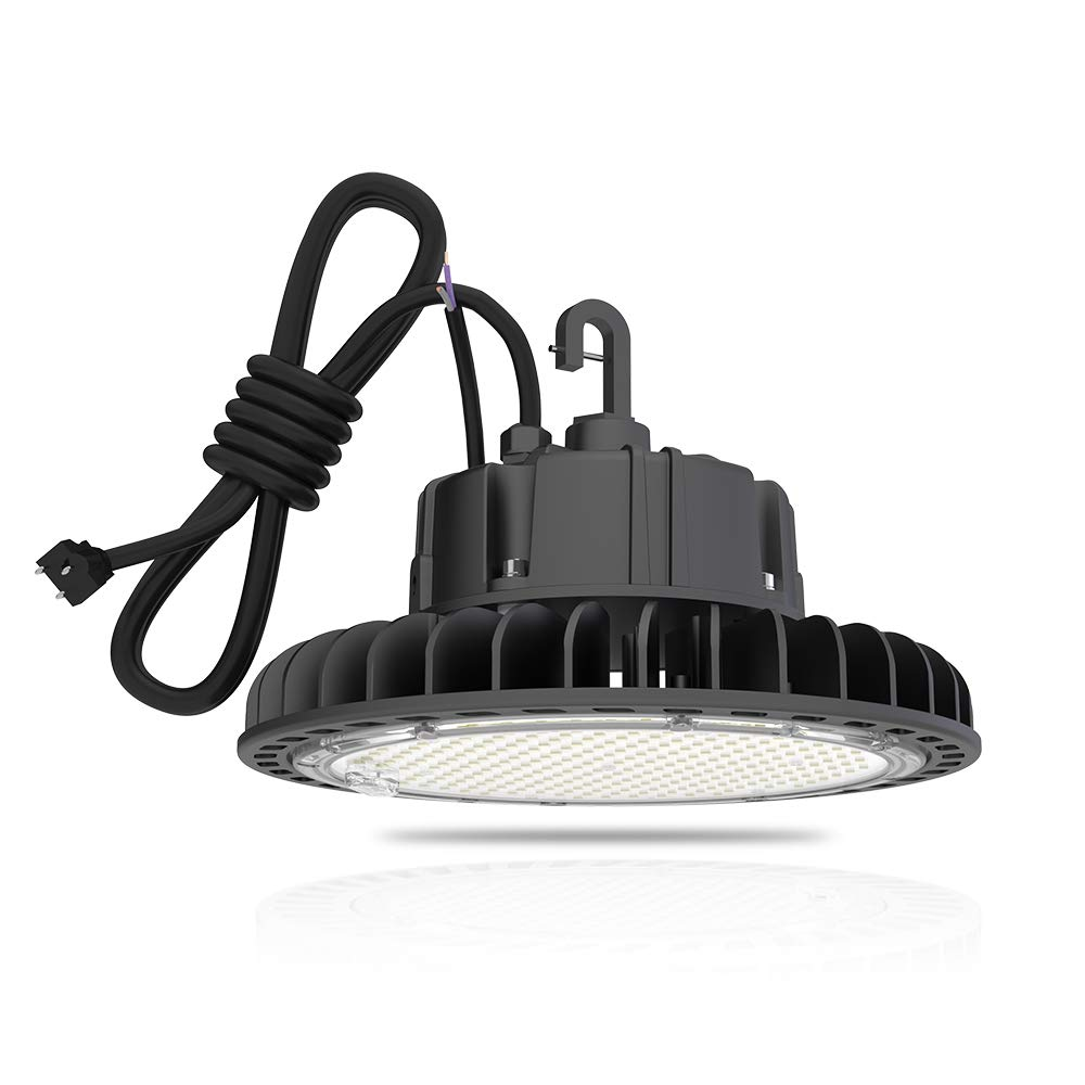 Hyperlite LED High Bay Light | 14000LM( 100W )Dimmable LED UFO High Bay Lighting | UL/DLC Approved | 5000K Commercial Lights | US Hook Included | Alternative to 450W MH/HPS | 5 Yr Warranty