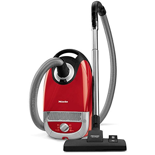 Miele Complete C2 Hard Floor Canister Vacuum Cleaner with SBD285-3 Combination Rug and Floor Tool + SBB300-3 Parquet Floor Brush – Autumn Red