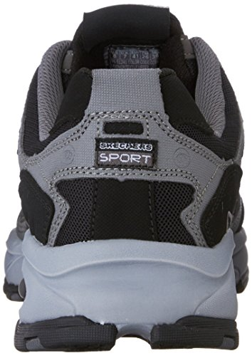 Skechers Sport Men's Vigor 2.0 Trait Memory Foam Sneaker, Charcoal/Black, 7 M US by Skechers (Image #2)
