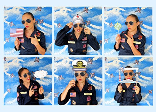 Top Gun Inspired Photo Booth Props