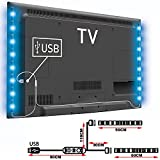 lED TV trip Lights Back Light Colour Changing 5V RGB 5050 Decorative Light USB TV PC Mood Light Lighting Livingroom Bedroom (2X50CM)