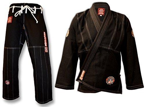 ROLL HARD BRAND Brazilian Jiu Jitsu Kimonos - Black (A3)