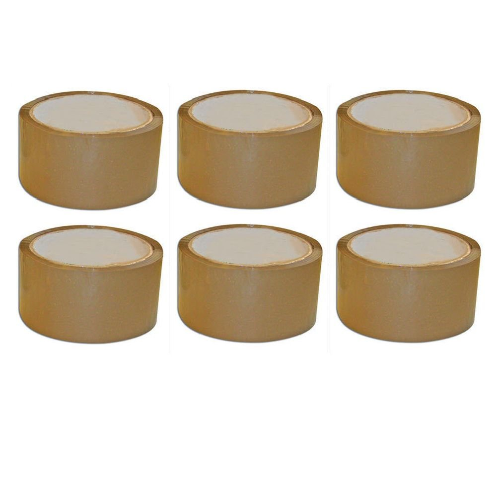 """6 ROLLS 2/""""x55 YDS COLOR CARTON SEALING PACKING TAPE"""