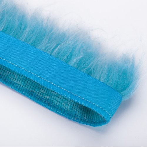 Neotrims Fake Faux Two-Tone Fur Woolly Fringe, Fleecy Thick Pile Trim on Satin Ribbon, For Costume, Crafts, Decoration. Easy to attach and sew on anything with Satin Ribbon Edge. (Faux Fur Coat Limited Edition)