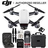 DJI Spark Portable Mini Drone Quadcopter Water Proof Hard Case Starter Bundle (Alpine White)