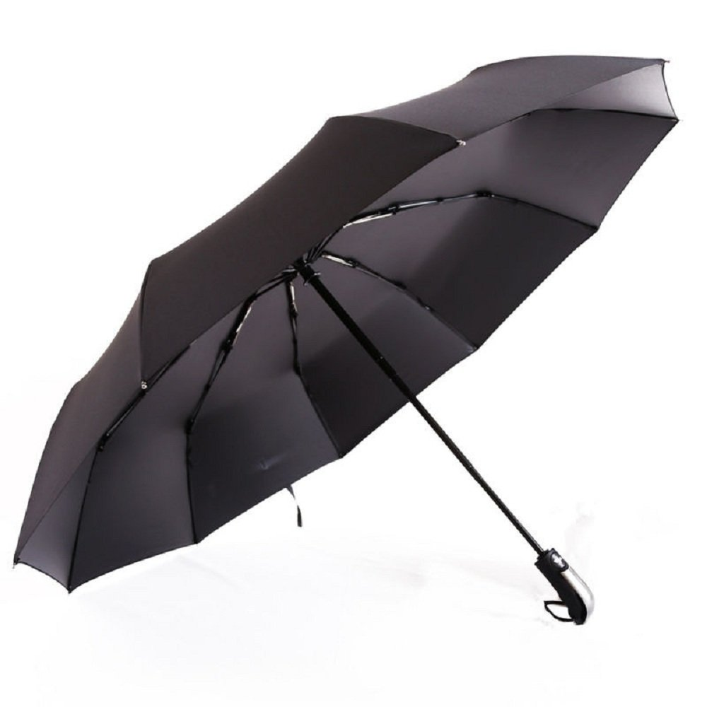 Paraguas, paraguas de viaje plegable automático a prueba de viento con Auto Abrir y cerrar por lcz (Negro): Amazon.es: Hogar