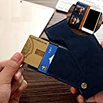Perkie Luxury Flipper Faux Leather Wallet Flip Case Kick Stand Magnetic Closure Flip Cover for Realme 8 (Blue)