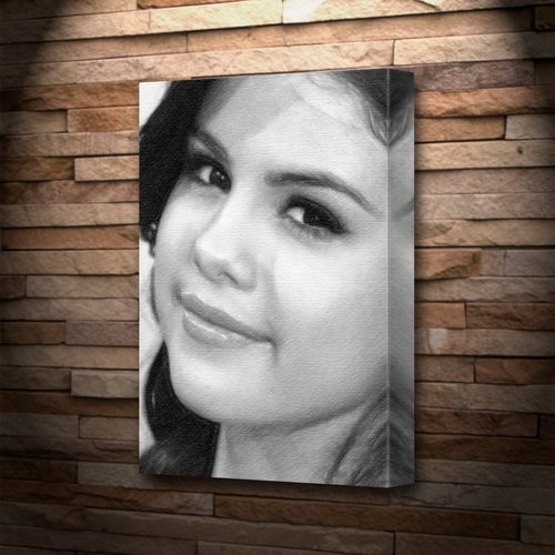 SELENA GOMEZ - Canvas Print (A4 - Signed by the Artist) #js002