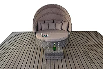 RUSTIC RATTAN GARDEN FURNITURE LARGE DAYBED: Amazon.co.uk: Kitchen ...