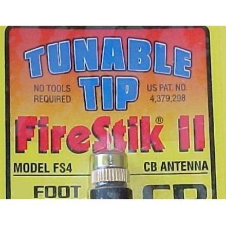 FireStik II FS4-BB 4' CB Antenna Easy Tune BLUE