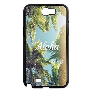 Samsung Galaxy N2 7100 Cell Phone Case Black_Aloha Palm Trees Meplk