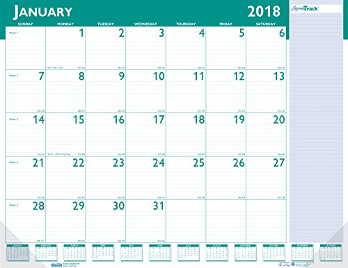 018 Monthly Desk Pad Calendar, Express Track, 22 x 17 Inches, January - January (HOD148-18) (Monthly Side Desk Pad)